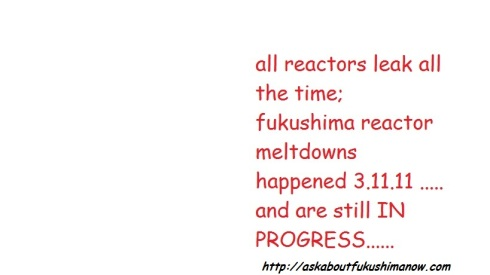all reactors leak and fukushima still in meltdown