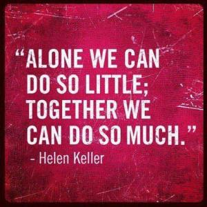 helen keller together we can do so much
