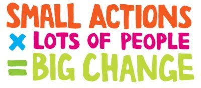 small actions by lots of people