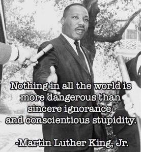 mlk ignorance and stupidity  danger danger