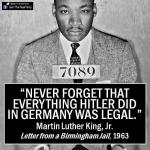 mlk jail letter hitler legal