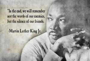 mlk silence of our friends