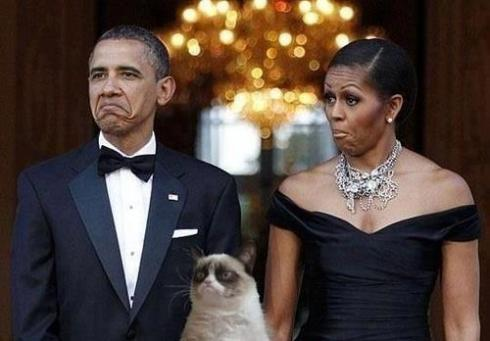 GRUMPY CAT AND O B A M A S