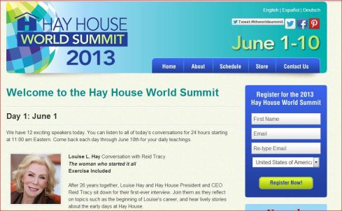 Capture hay house world summit 2013