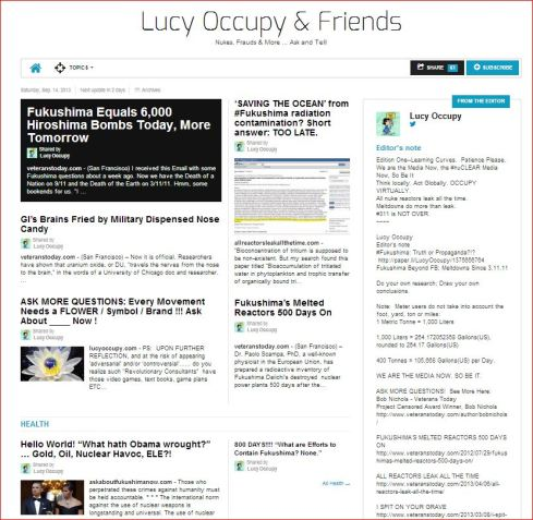 Lucy Occupy & Friends … see, share, subscribe http://paper.li/LucyOccupy/1375548394