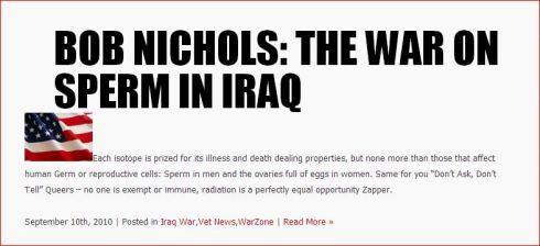41  Bob Nichols The War on Sperm in IRAQ