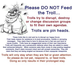 do not feel the trolls