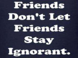 friends dont let friends stay ignorant    2