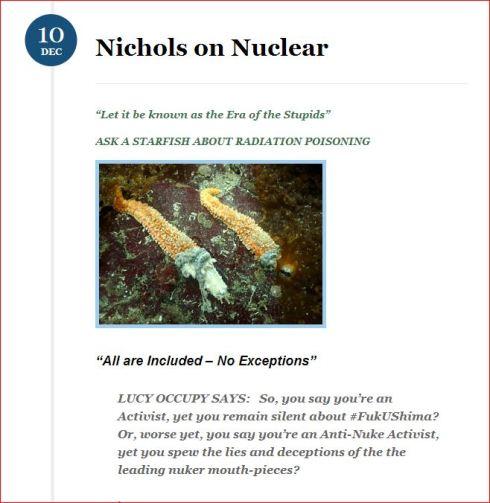 Fukushima  Nichols on Nuclear  blog Dec 2013