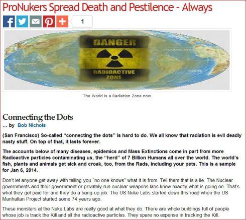 Connecting the Dots   ProNukers Spread Death and Pestilence  - Always