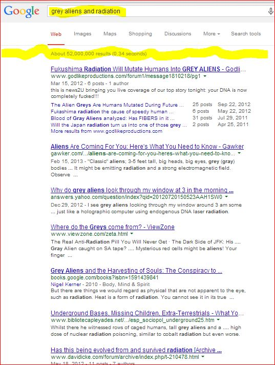 #Fukushima #Nuclear and Aliens?? D'oh!!!  Grey Befuddled Perplexed Baffled Mysterious Psychopath PSY-OP ALERTS??!!! (5/6)