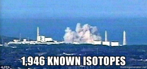 Fukushima 1946 known lethal iostopes