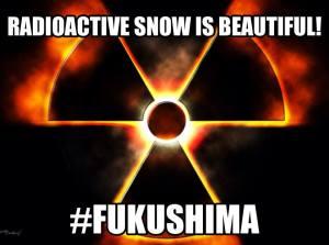 fukushima radioactive snow