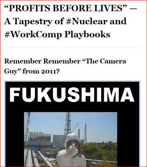 FUKUSHIMA PROFITS BEFORE LIVES