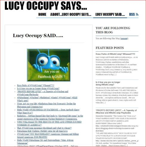 LUCY OCCUPY LIST OF POSTS