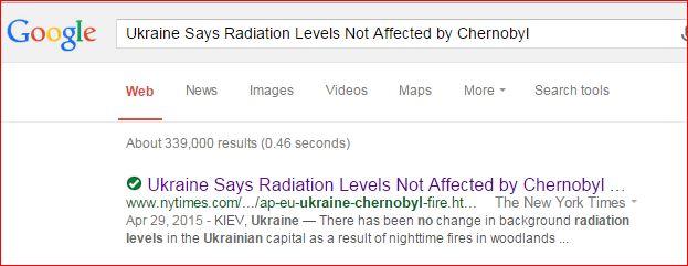 Ukraine  Radiation and Chernobyl Fires  5 25 2015  NYT