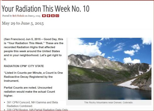YOUR RADIATION THIS WEEK NO 10