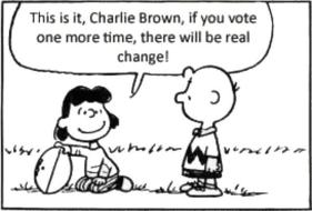 lucy charlie brown voting