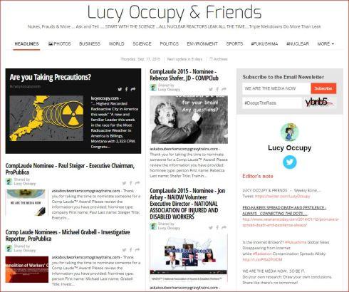 Lucy Occupy and Friends paper li 9 17 2015 etc