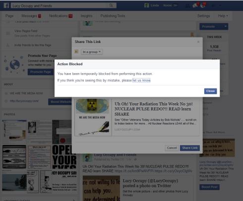 fb blocked till nov 22 in posting to groups