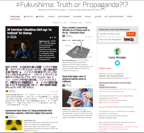 Fukushima Truth or Propaganda ezine 12 17 2015