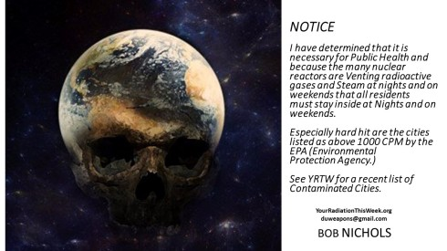 Your Radiation This Week NOTICE 5th of November